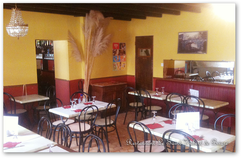 Restaurant le saint hubert de briare le canal bienvenue for Menu st hubert salle a manger