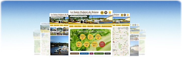 Site internet restaurant Le Saint-Hubert de Briare-le-Canal - Un site plus clair, plus complet, pour plus de transparence