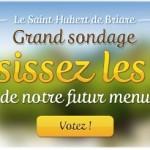 Restaurant Le Saint-Hubert de Briare. Sondage nouvelle carte : quel est le plat préféré des français