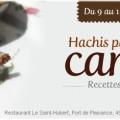 Restaurant Le Saint-Hubert de Briare - Week-end Spécial Hachis parmentier de canard maison - Ouvert le 11 novembre