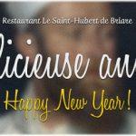 Carte de vœux nouvelle année 2014 - Restaurant Le Saint-Hubert de Briare (Loiret, Région Centre, France)