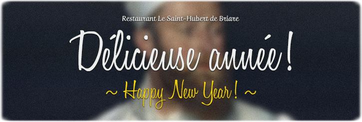 Bonne année 2014 ! Les vœux de bonne année de l'équipe du restaurant Le Saint-Hubert de Briare (Loiret, Région Centre, France)