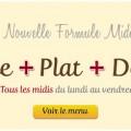 Formule midi : Entrée + Plat du jour + Dessert = 13€. Tous les midis, du lundi au vendredi. Plats 100% faits maisons. Restaurant Le Saint-Hubert de Briare (45, Loiret, Région Centre, France)