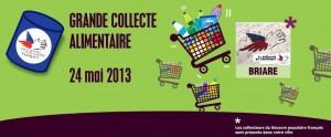 Vendredi 24 mai 2014 : grande collecte alimentaire régionale à Briare (Loiret, Région Centre, France)