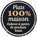 Plat du jour Restaurant Briare, Loiret, Région Centre - Assiette composée, Poulet rôti, Pâtes carbonara fraîches maison