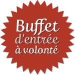 Suggestion du jour Restaurant Briare, Loiret, Région Centre - Buffet d'entrée à volonté (crudités et charcuterie)