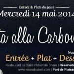 Plat du jour Restaurant Briare, Loiret, Région Centre - Pasta alla carbonara