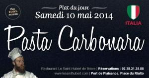 Plat du jour Restaurant Briare, Loiret, Région Centre - Pâtes Carbonara
