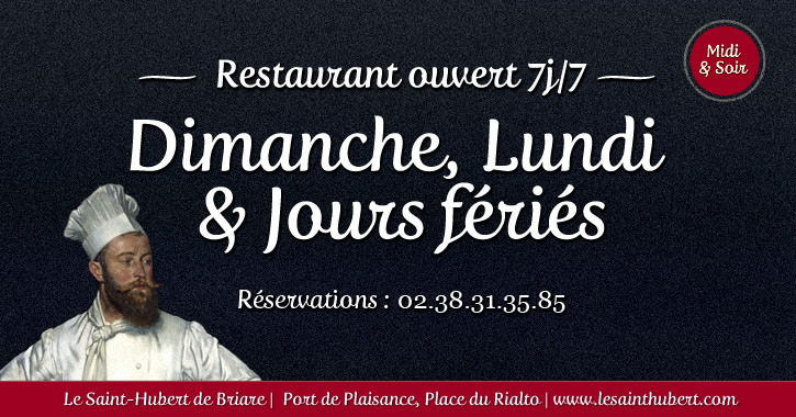 restaurant briare ouvert dimanche lundi jour f ri loiret. Black Bedroom Furniture Sets. Home Design Ideas
