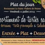 Tarte salées maison - Plat du jour Restaurant Briare, Loiret, Région Centre, France - Quiche Lorraine & Tarte Provençale