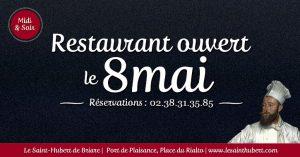 Restaurant Briare ouvert 8 mai - Jours feriés - Loiret, Région Centre