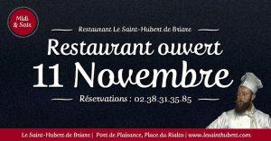 Restaurant Briare ouvert 11 Novembre - Jours fériés - Loiret, Région Centre