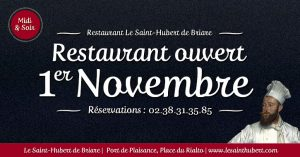 Restaurant Briare ouvert 1er Novembre - Jours fériés - Loiret, Région Centre